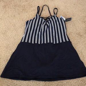 New! Nautica XL navy Dock line swim dress.